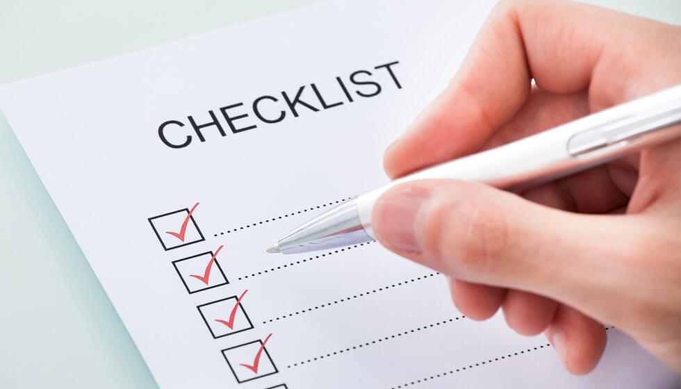 چک لیست ملزومات اداری